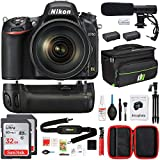 Nikon D750 DSLR 24.3MP Digital Camera with AF-S NIKKOR 24-120mm f/4G ED VR Lens Bundle with 2X 32GB Memory Card, 2X Battery, Battery Grip, Editing Suite, Microphone, Tripod, Bag and Cleaning Kit