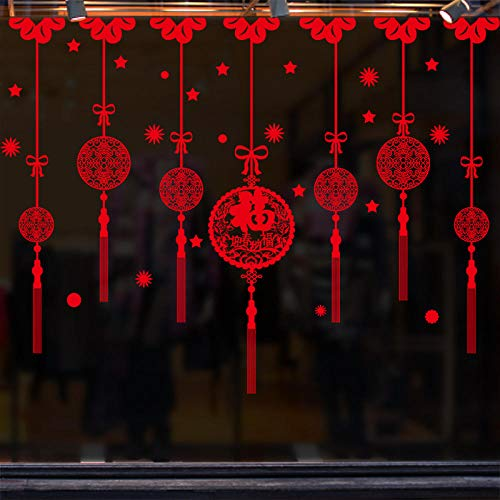 Decoraciones de Año Nuevo pegatinas de puertas correderas pegatinas de ventana de vidrio pegatinas de pared pinturas de ventana-Welcome Spring Gift Post_Extra large