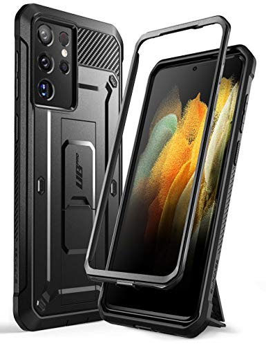 SUPCASE Unicorn Beetle Pro Series Case Designed for Samsung Galaxy S21 Ultra 5G (2021 Release), Full-Body Dual Layer Rugged Holster & Kickstand Case Without Built-in Screen Protector (Black)