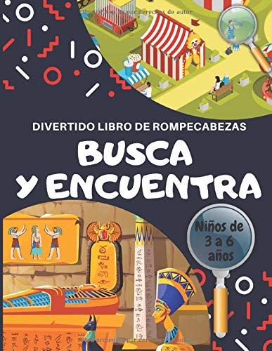 Busca y Encuentra: Divertido libro de rompecabezas para niños de 3 a 6 años.