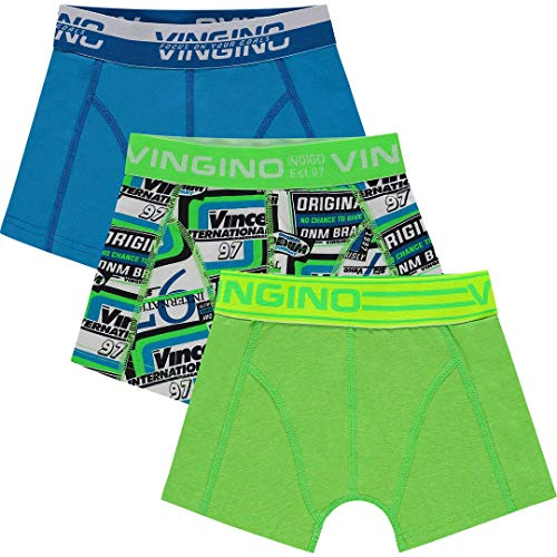 Vingino Original B-194 Boxershorts voor jongens, 3 pak neon groen