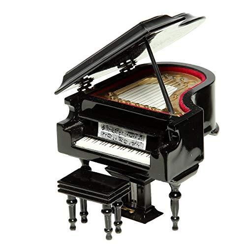 Ambiente Haus 81001 Dekoartikel Klavier Spieluhr 12 cm
