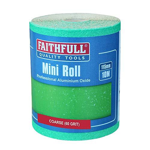 Faithfull AR1060G Rouleau de papier à sec oxyde d'alumine Vert 60 g 115 mm x 10 m (Import Grande Bretagne)