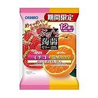 オリヒロプランデュ ぷるんと蒟蒻ゼリーパウチ イチゴ+温州みかん 12個入 ×6袋