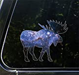 Cosmic Moose - Galaxy Spirit Animal - Vinyl Car Decal | Yadda-Yadda Design Co. (Med 5.5'w x 5'h)