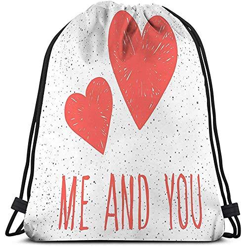 Trekkoord Rugzak Tas, Gym Zak, abstract kinderachtig roze hart patroon trouwkaart bruids uitnodiging valentijn s dag brochures album