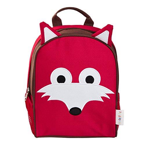 smileBaby Kinderrucksack ideal den Kindergarten und Freizeit in verschiedenen Tiermotiven roter Fuchs