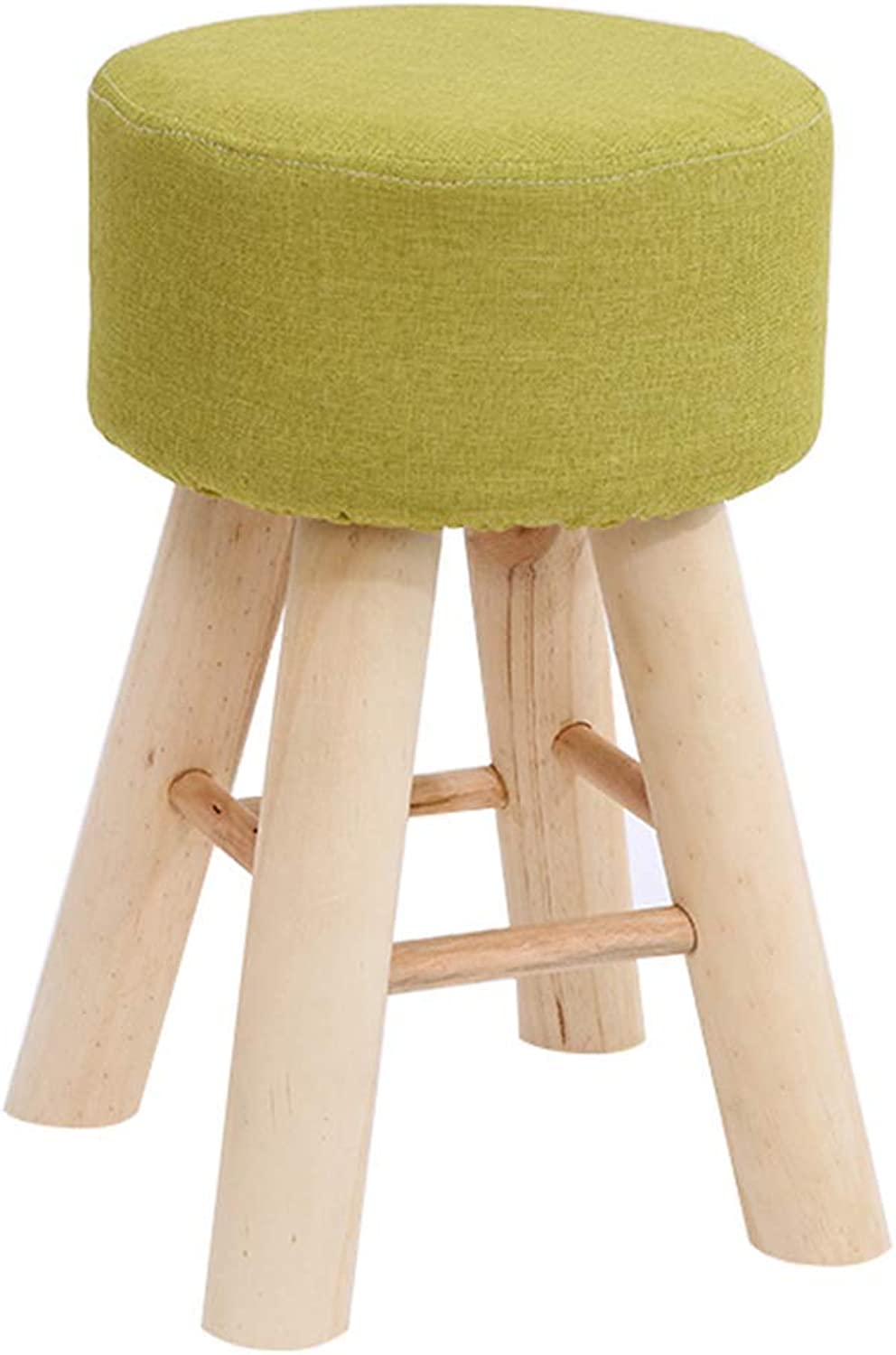 ChenDz Cute Stool Nordic Minimalist Creative Home, Change shoes, Small Stool, Solid Wood Stool, shoes, Bench, Fabric Sofa Stool, orange