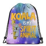 Koala is My Spirit Animal Drawstring Backpack Rucksack Sacs à bandoulière Sac de Sport