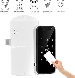 オートロック電子ロック キャビネットロック 警報機能 非接触 RFIDパスワード キーパッド電子錠 取り付き便利ワードローブファイルキャビネットロック