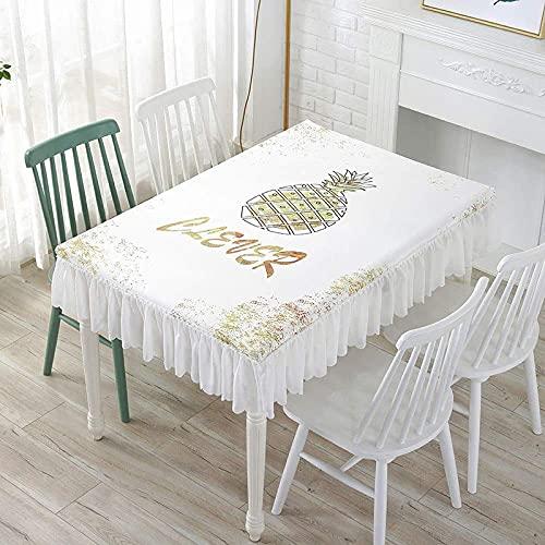 Family Life Equipment Tischdecken Rechteckige Tischdecke bedruckt mit einem Muster Chiffonkante Stoffbezug Handtuch 20 Muster können ausgewählt werden 150 * 90 * 25cm (Farbe : 462 Größe : 100 * 100