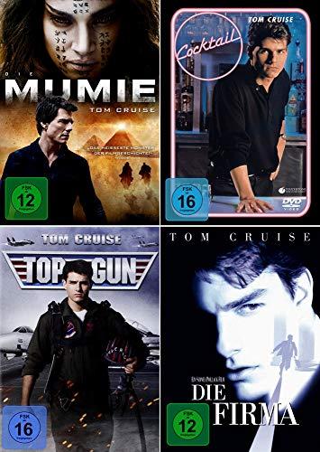 Tom Cruise 4-Filme Collection: Top Gun + Cocktail + Die Mumie + Die Firma [4er DVD-Set]