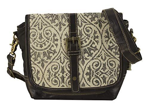 Sunsa Messengerväska axelväska dam handväska canvas väska med läder liten tonåring väskor väskor för kvinnor Messenger väska Crossbody Bag axelremsväska praktiska gåvor damväskor rea