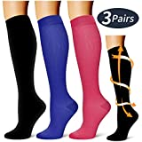 Laite Hebe compression socks ,Black+Red+Blue,S/M (3 pairs)