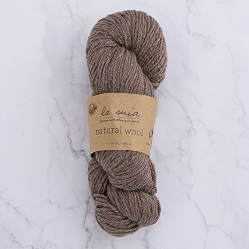 1 Skein La Mia0 Natural Wool 3.5 Oz(100g) / 218 Yrds (200m), Medium Worsted, Afghan, Yarn, Brown - 40005