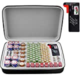 Battery Organizer, Batteries Storage Case with Tester, Containers Box Holder Bag fits for AA AAA AAAA 9V C D Lithium 3V(Not Includes Batteries)