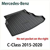 QCHD Alfombrilla de Arranque,para Mercedes-Benz A C B E S G ML GLA GLB GLC GLS GLE GLK del Maletero Trasero Bandeja de Carga Almohadilla de Piso Material de Goma TPO Negro,Clase C 2015-2020