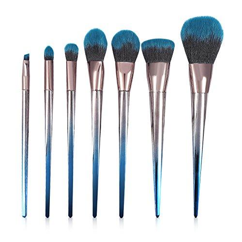 Ensemble de brosse de maquillage de diamant, ensemble de maquillage de brosses de poudre de base de losange de gradient pour des femmes(7 pièces)