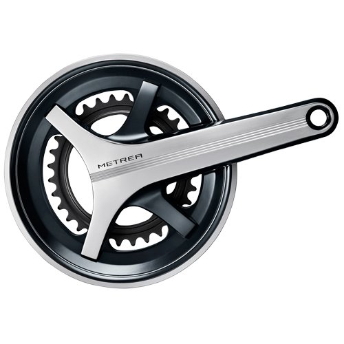 Shimano Metrea FC-U5000 Kurbelgarnitur 2x11-fach 46-32 Z. Schwarz/Silber Kurbelarmlänge 175 mm 2017 MTB