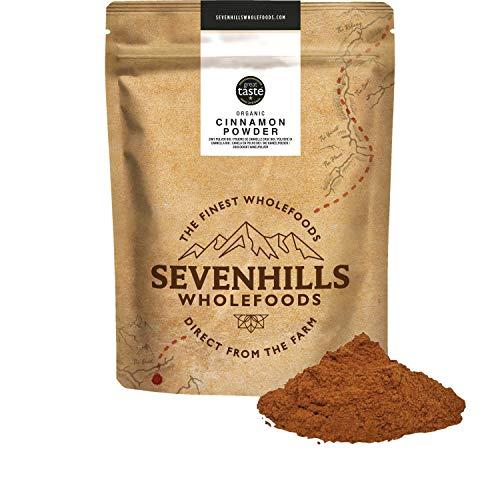 Sevenhills Wholefoods Canela Cruda En Polvo Orgánica (Verdadera Ceylon) 500g