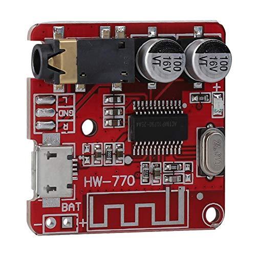 Topiky Module récepteur Audio, MP3 sans Fil Bluetooth 4.1 Carte de décodeur sans Perte Haut-Parleur de Voiture DIY Amplificateur Audio Module de Lecteur de Carte stéréo, Sortie de Canal stéréo