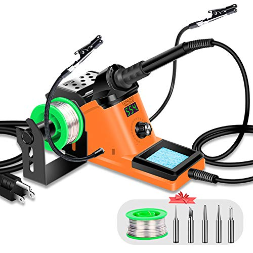 LONOVE Soldering Iron Station Kit – 60W Solder...