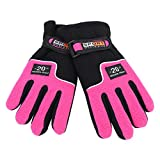 KJLH 1 par de guantes calientes de invierno a prueba de viento para esquí al aire libre (rosa femenina)