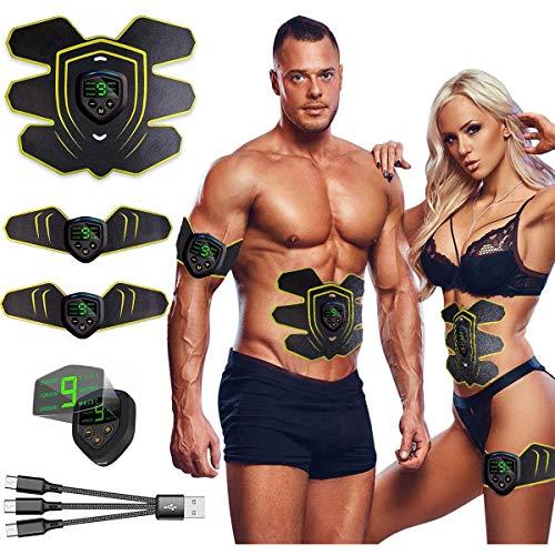 Estimulador Muscular, EMS Entrenamiento Muscle, Electroestimulador Abdominal Mujer Hombre, Cinturon Electroestimulador Abdominales...