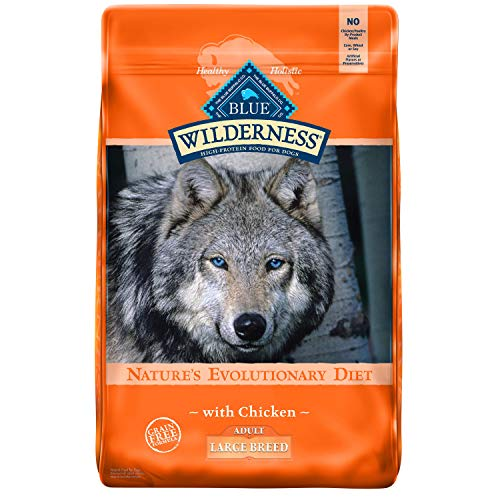 Blue Buffalo Wilderness High Protein Grain Free Natural Adult Large Breed Dry Dog Food, Chicken 24-lb