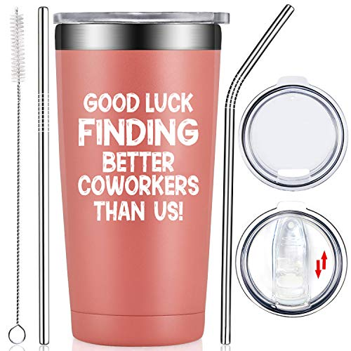 Fufendio Good Luck Finding Better Coworkers Than Us - Coworker Leaving Gifts, Farewell, Thank You, Going Away, Retirement, New Job for Women Coworker Best Friends Colleague Boss Tumbler Cup
