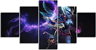 BAOJIAN 5 Canvas Painting 5 Piece Game Poster Wall Paintings Vengeful Spirit game roCartoon characterdeo Game Poster Canva...