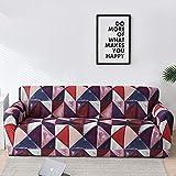 WXQY Geometry Plaid Fundas elásticas Fundas elásticas para sofá protección para Mascotas Funda para sofá con Esquina en Forma de L Funda para sofá con Todo Incluido A18 2 plazas