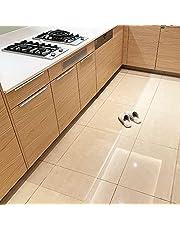 Marvelux キッチンマット クリア 透明マット 1.5mm厚 拭ける PVCマット 床暖房対応 お手入れ簡単 キッチクリアマット ソフト エンボス加工 カットできる サラっとした手触り 清潔 ハードフロア/畳/フローリング対応 台所マット 透明タイプ