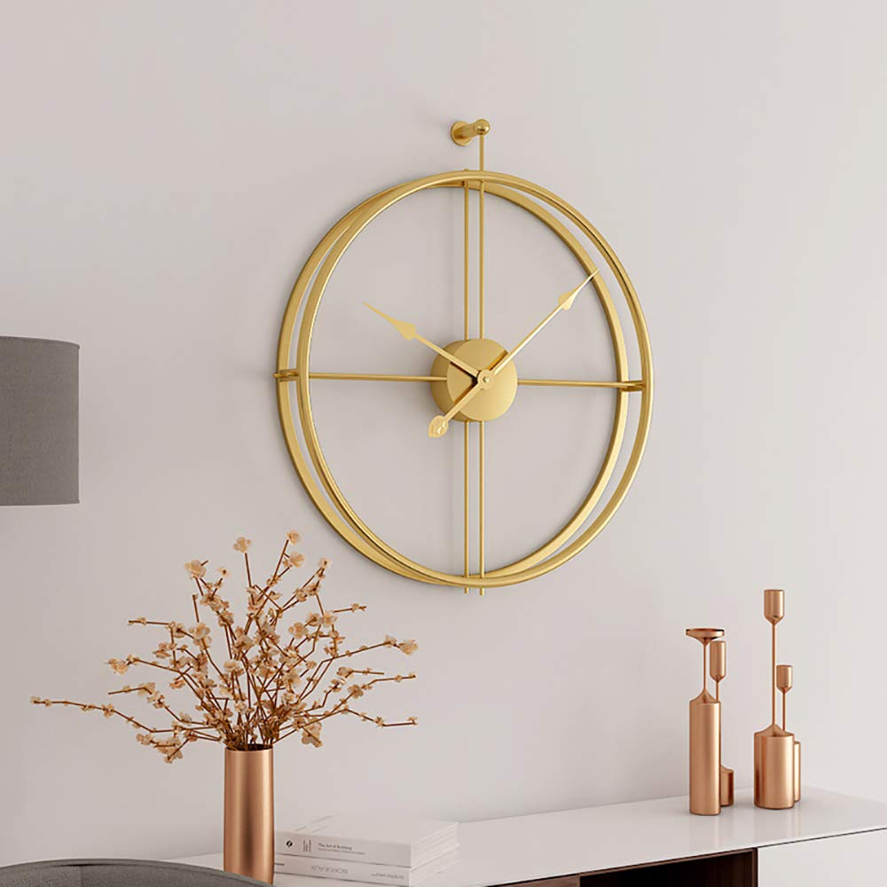 Gqys Wall Clock 16 Inch Silent Wall Clock Non Ticking Metal Vintage Unique Wall Clocks Large Decorative For Kitchen Living Room Office Gold Buy Online In Grenada At Grenada Desertcart Com Productid 194300459