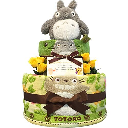 KanonBabys おむつケーキ 男の子 女の子 トトロ 出産祝い 2段 Sサイズ 2002