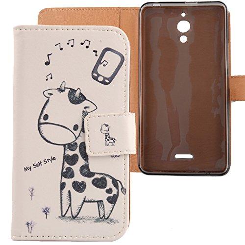 Lankashi PU Flip Leder Tasche Hülle Hülle Cover Schutz Handy Etui Skin Für Alcatel One Touch Pixi 4 6