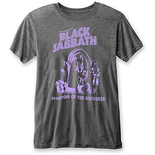 Black Sabbath 'Symptom of The Universe' (Grey) Burnout T-Shirt (xx-Large)