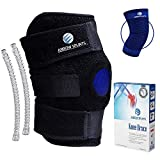 Arrow Splints Knee Brace for Women & Men + Knee Compression Sleeve Open Patella Dual Stabilizers for Lateral Knee Support, Arthritis, ACL, Meniscus, MCL, Ligament, LCL, Runners Knee, & PCL