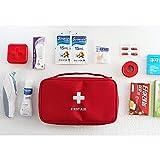 Medizintasche für Outdoor Reise Sport tragbar,reiseapotheke Tasche, Erste Hilfe Tasche tragbar - leer. (rot) - 4