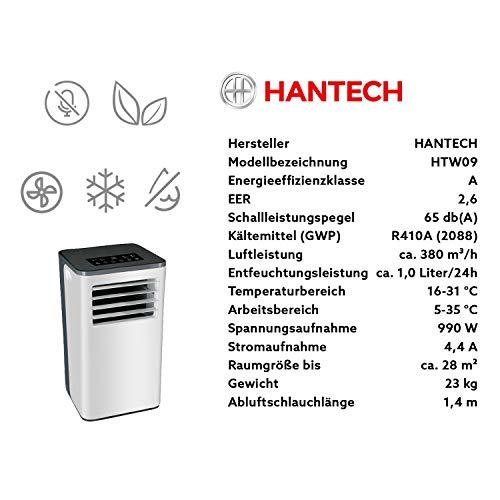 Mobiles Klimagerät von HANTECH 9.000 BTU Erfahrungen & Preisvergleich