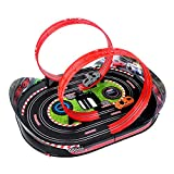 QJJ Coche de carril para niños de almacenamiento de juguetes portátil grande doble coche Boy Control remoto tren Puzzle eléctrico Racing Car (tamaño: B)