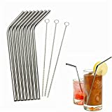 25 Packs Bent Reusable Stainless Steel Drinking Straws 100 Piece Stylish straws for drinking Kitchen aid Apartment essentials Kitchen tools Kitchen essentials Cooking gadgets Home gadgets