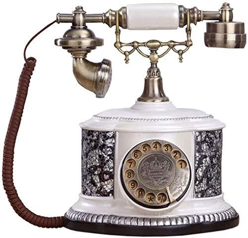 DHFDHD Teléfono Antiguo Alambre de teléfono Teléfono Antiguo de la Vendimia con Cable de Alambre de teléfono multifunción de plástico Teléfono de la casa Teléfono Retro (Color : #1)