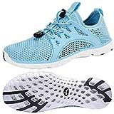Feetmat Women's Water Shoes Quick Drying Aqua for Water Sports Slip on Walking Shoes Light/Blue 7