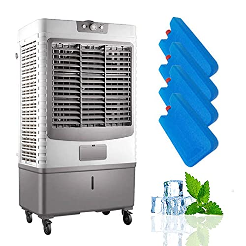 SXFuture Industry Evaporative Cooler 90L, 4-In-1 Conditioner Fan Filter and Humidifier, 25M Wind Distance + 60000m³/h + 3 Modes + 3 Wind Speeds, Energy Saving Low Noise Space Cooler for Indoor