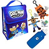 Dav Pilkey Dog Man Cat Kid Back To School Large Insulated Lunch Bag Set for Kids with plush (See variations)
