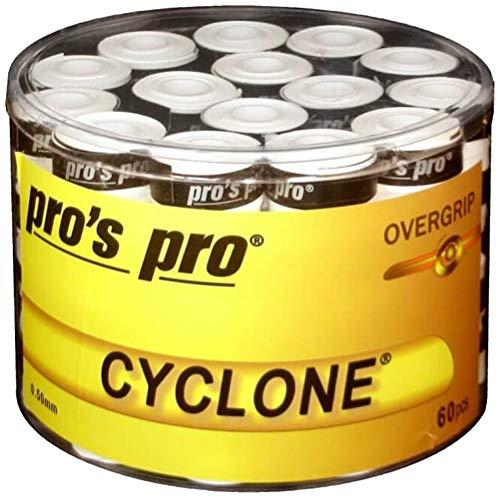 Pros Pro Cyclone - Bandas adhesivas para raqueta de tenis (60 unidades),...
