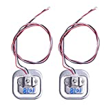 Cylewet 2Pcs 50kg 110lb Half-Bridge Weighing Sensor 3-Wired Load Cell Electric Resistance Strain Gauge for Arduino (Pack of 2) CYT1001