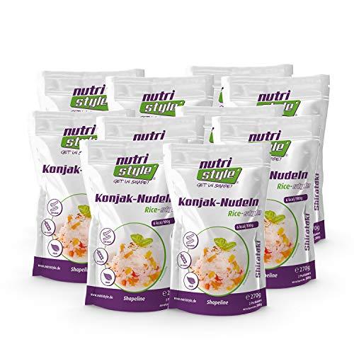 nutristyle Shirataki Konjak Nudeln, Reis-Art, 10 x 270g (10x 200g ATG), Pasta-Alternative mit nur 6 kcal, ideal für eine kalorienarme Ernährung geeignet - Aktionspreis! MHD: 15.07.2020