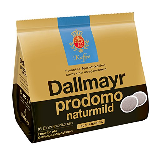 Dallmayr Kaffee Naturmild Kaffeepads, 5er Pack (5 x 16 Pads)